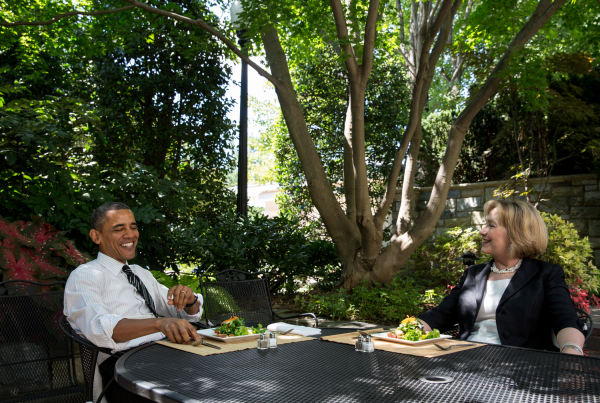 "After Clinton invites Obama to private lunch, Republicans launch investigation into explosive new scandal, ""kale-gate"""